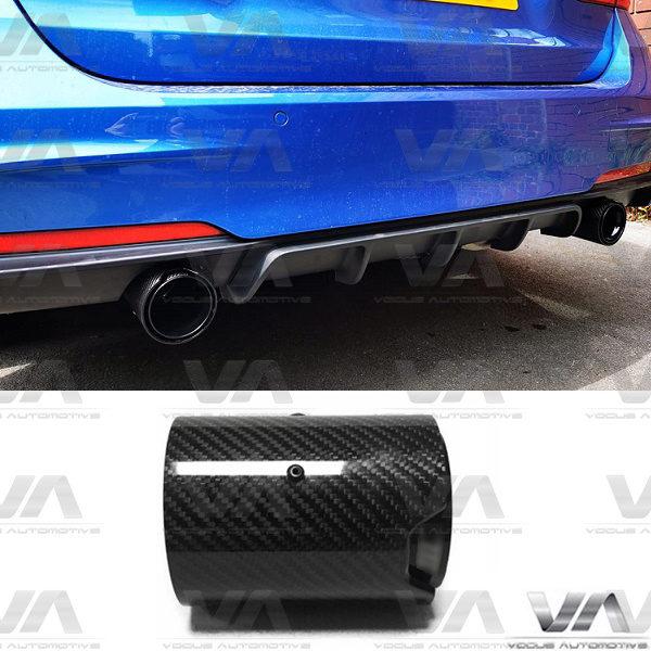 BMW F Series CARBON FIBER GLOSS BLACK SHORT Exhaust Tip