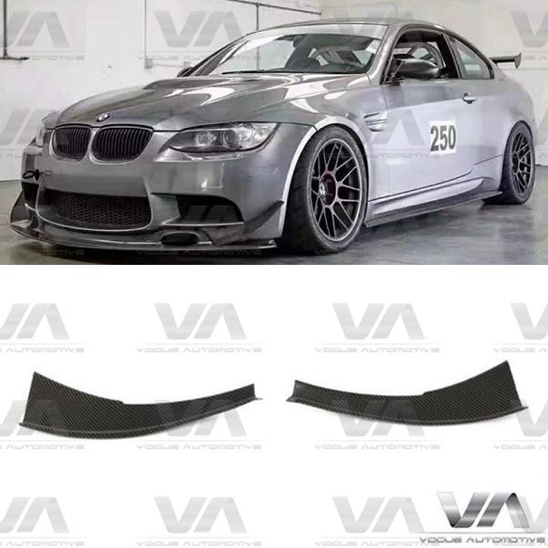 BMW M3 E90 E92 E93 DTM Style CARBON FIBER Front Bumper Corner Canards Winglets