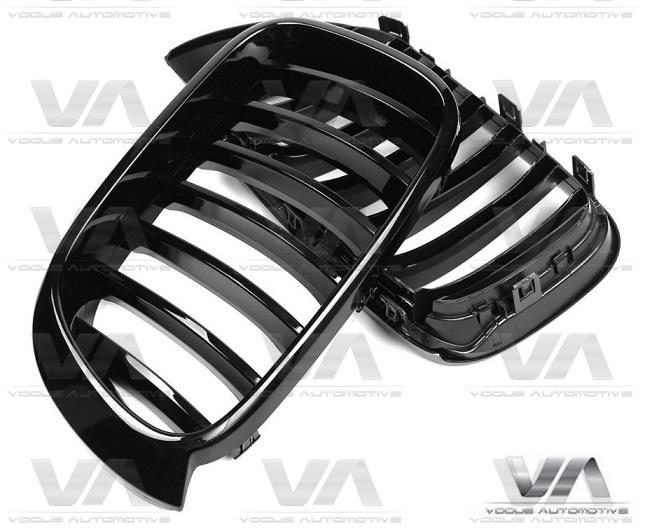 BMW X3 X4 F25 F26 PERFORMANCE Style GLOSS BLACK Single Kidney Grilles
