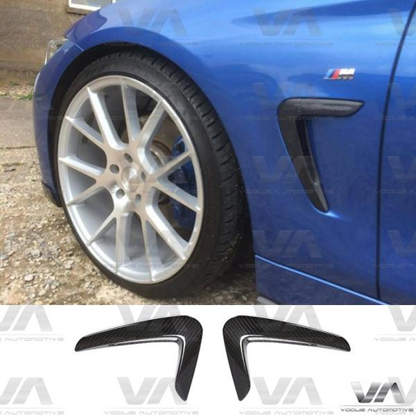 BMW 4 Series F32 F33 F36 Prepreg CARBON FIBER Front Side Vents Fender Trims