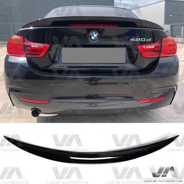 BMW 4 Series F33 F83 M4 PERFORMANCE Style GLOSS BLACK Boot Spoiler