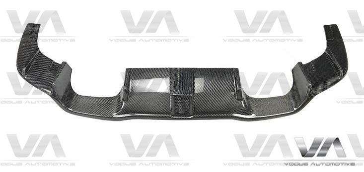 BMW M2 F87 KHL Style CARBON FIBER LED Brake Rear Diffuser