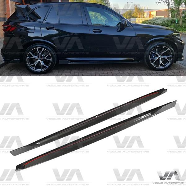 BMW X5 G05 M Sport Full Length CARBON FIBER Side Skirts