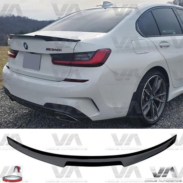 BMW 3 Series G20 G80 VRS M4 Style GLOSS BLACK Boot Spoiler