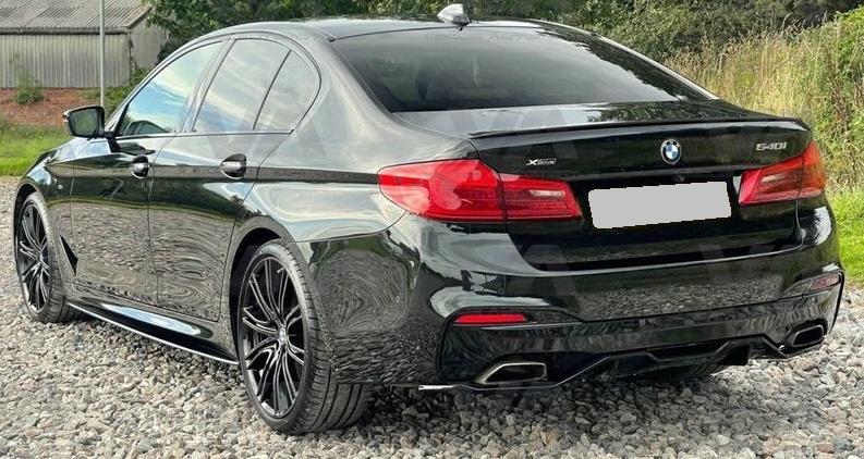 BMW 5 Series M Sport G30 G31 GLOSS BLACK Rear Diffuser w/ Undertray