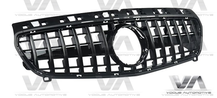 MERCEDES-BENZ A Class W176 A45 AMG 12-15 GLOSS BLACK PANAMERICANA GT Style Grille