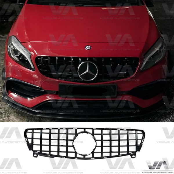 MERCEDES-BENZ A Class W176 A45 AMG 15-18 GLOSS BLACK PANAMERICANA GT Style Grille