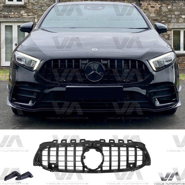 MERCEDES-BENZ A Class W177 A35 AMG GLOSS BLACK PANAMERICANA GT Style Grille