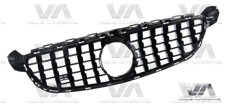 MERCEDES-BENZ C Class A205 C205 S205 W205 14-18 GLOSS BLACK PANAMERICANA GT Style Grille w/o Cam