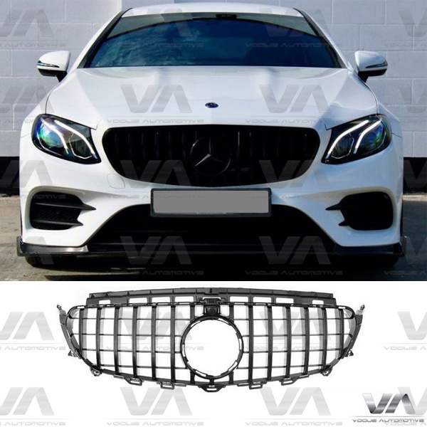 MERCEDES-BENZ E Class C238 W213 S213 16-20 GLOSS BLACK PANAMERICANA GT Style Grille